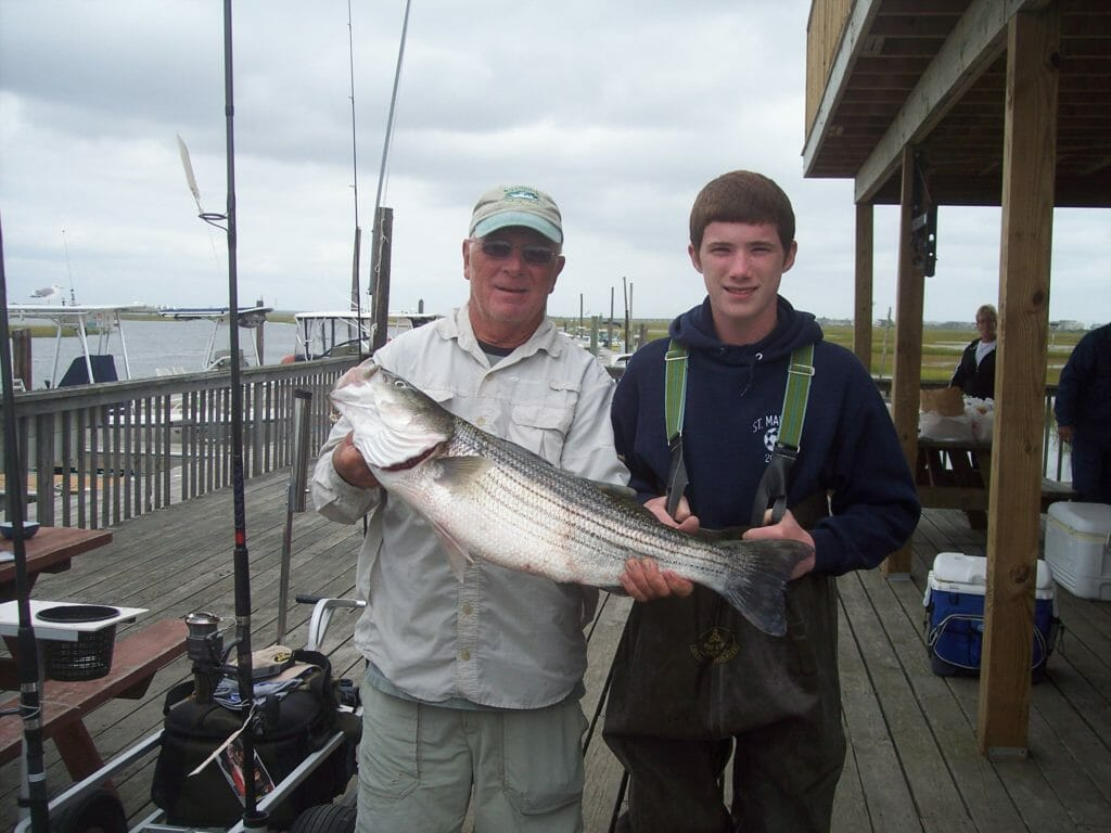 Visitors and their catch at Whale Creek Marina in 2010